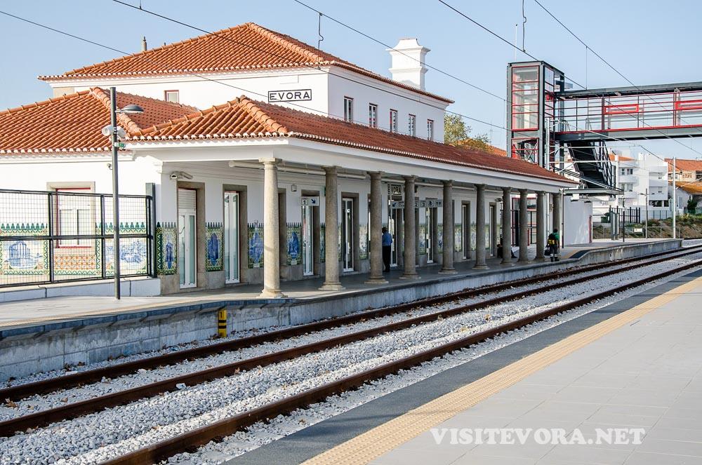 Train Statin Evora route to city centre