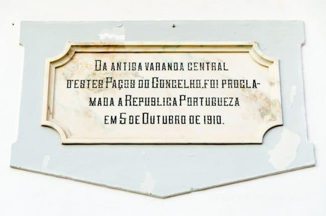 evora town hall inscription
