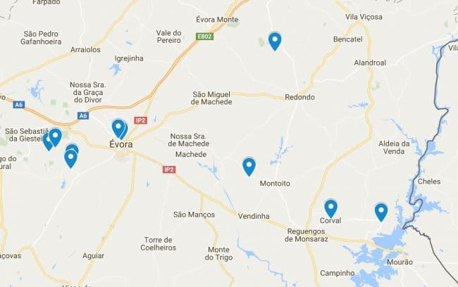 map trekking alentejo walking