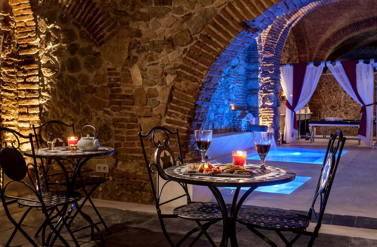 roman baths wine tasting