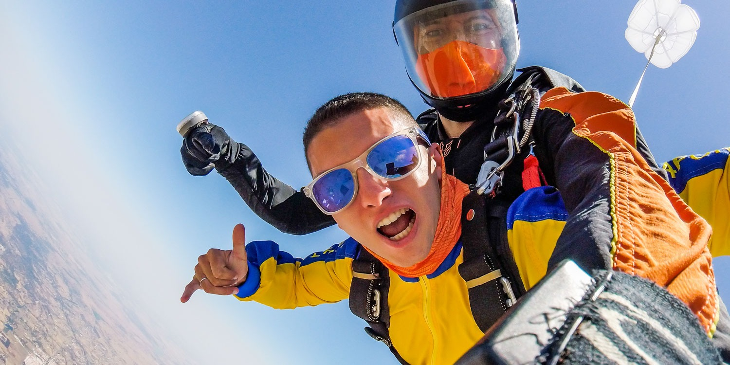 skydiving evora