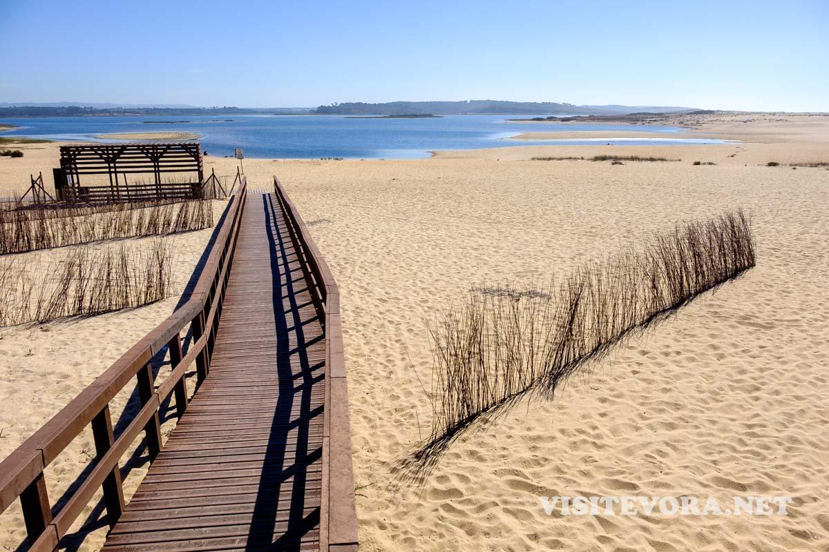 litoral alentejo laguna santo andre